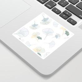 ginkgo biloba leaves pattern Sticker