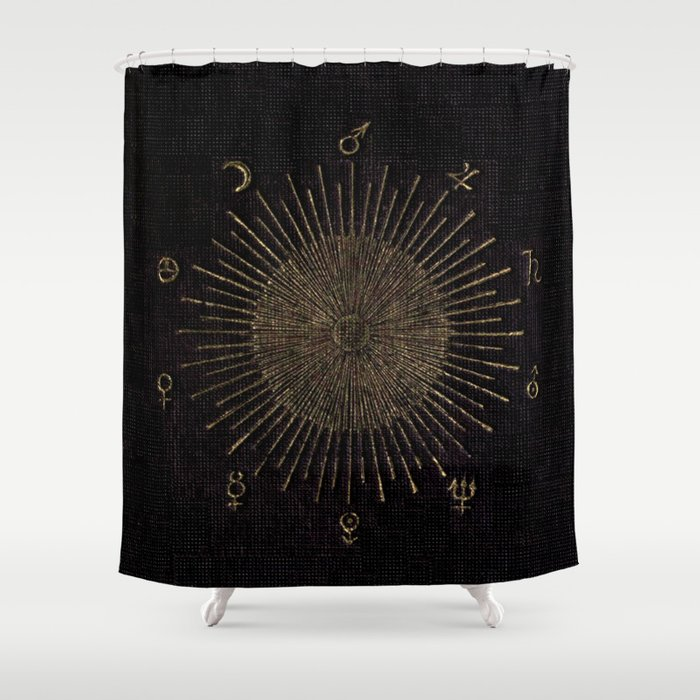 Astronomy Symbols Shower Curtain By Bluespecsstudio