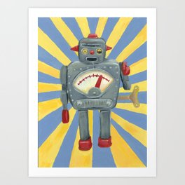 Cute robot toy Art Print