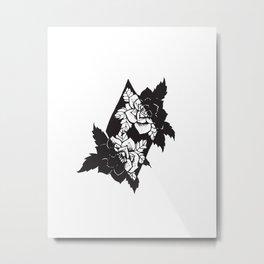 Geometrical Flowers Metal Print