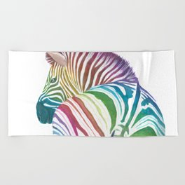 Rainbow Stripes Beach Towel