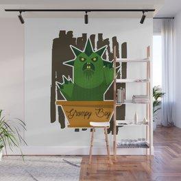 Cactus Grumpy Boy Wall Mural