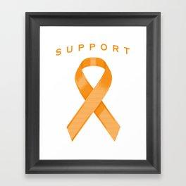 Orange Awareness Ribbon Framed Art Print