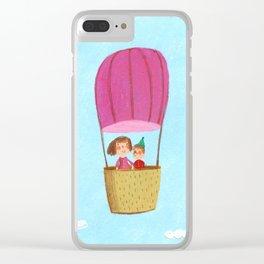 Hot Air Love Ballon Clear iPhone Case