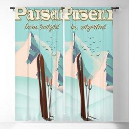 Parsenn Switzerland travel poster. Blackout Curtain