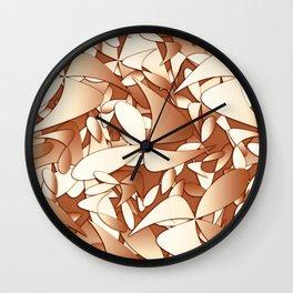 Pattern brown 156 Wall Clock