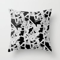 frames Throw Pillows featuring Changing Frames by ValentinaFloraAngelucci