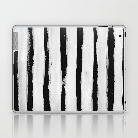 BW Stripes Laptop & iPad Skin