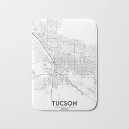 Minimal City Maps - Map Of Tucson, Arizona, United States Bath Mat