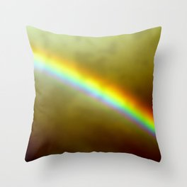 in rainbows Throw Pillow