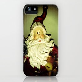 Santa (caught on camera) iPhone Case