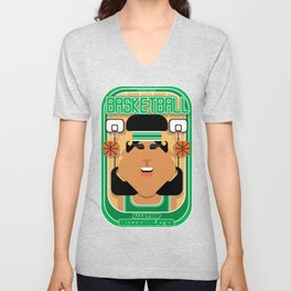 Basketball Green - Alleyoop Buzzerbeater - Indie version Unisex V-Neck