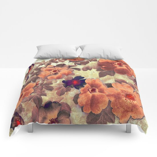 Vintage Roses Hips Colours Comforters