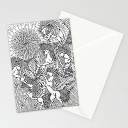 Pegasi, the Sun Dancers by Kent Chua Stationery Cards