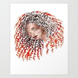 Fiery Curls Art Print