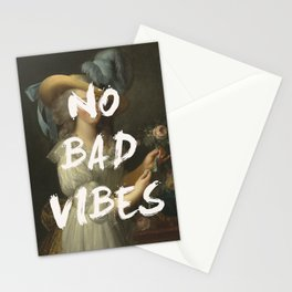 NO BAD VIBES Stationery Cards