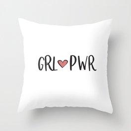 GRL PWR Throw Pillow