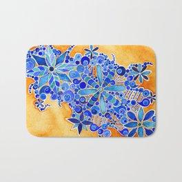 Blue Bouquet Bath Mat