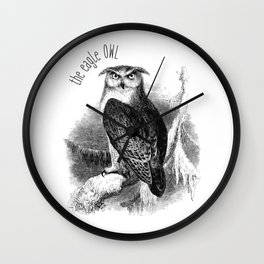 The Eagle Owl Wall Clock