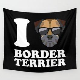I Love Border Terrier modern v2 Wall Tapestry