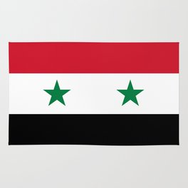 Syrian flag - may PEACE prevail Rug
