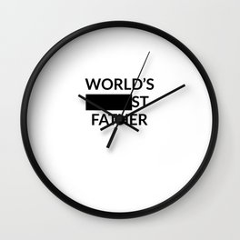 Gift for Worlds Blank Father Wall Clock