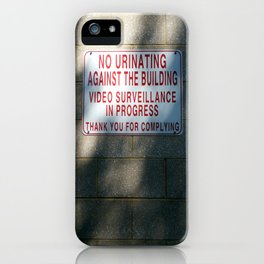 Thank You For Complying iPhone Case