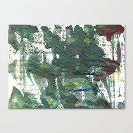 Feldgrau abstract watercolor Canvas Print
