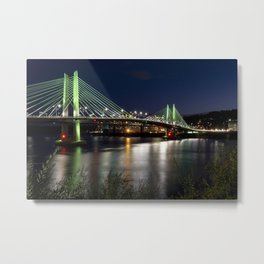 Tilikum Crossing Bridge Metal Print
