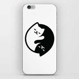 Cat Yin Yang iPhone Skin