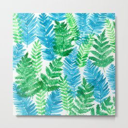 Fern watercolor Metal Print