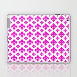 Pink Fleur de Lis Pattern Laptop & iPad Skin