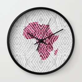 Africa in Grey Pink Wall Clock
