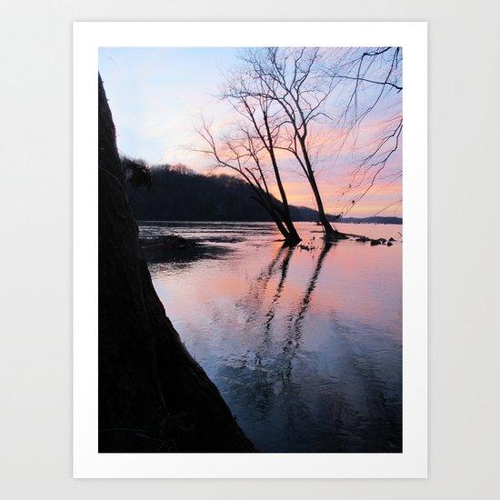 reflecting dusk Art Print