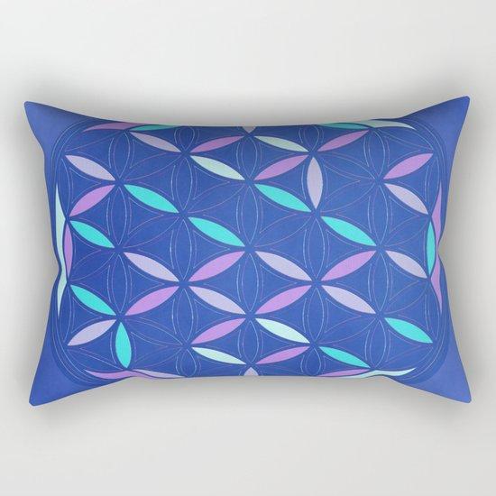 Flower of life 2017 blue Rectangular Pillow