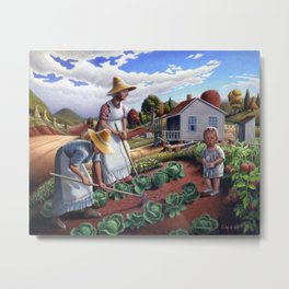 The Family Garden Appalachian Country Landscape Metal Print