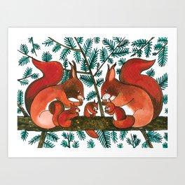 Noah's Ark - Squirrel Art Print