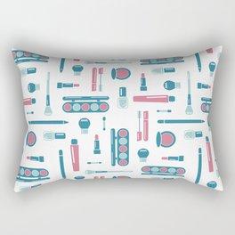 Cosmetic Items Repeating Pattern Rectangular Pillow