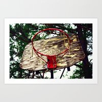 basketball Art Prints featuring Basketball by Denise Burns
