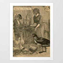 Mary had a Pretty Bird Art Print