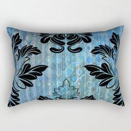 Layers of Blue with Design Rectangular Pillow