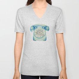 Rotary Telephone - Ballpoint Unisex V-Neck