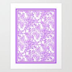 Radiant Orchid Tea Reversed Art Print
