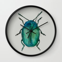 Watercolour Beetle 3/3 Wall Clock