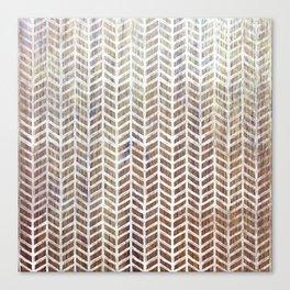 Herringbone And Teak Canvas Print