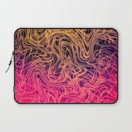 Warped Linear2 Warm Laptop Sleeve
