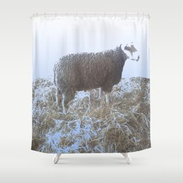 Solitude on straw Shower Curtain