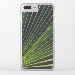 Palm Leaf Clear iPhone Case