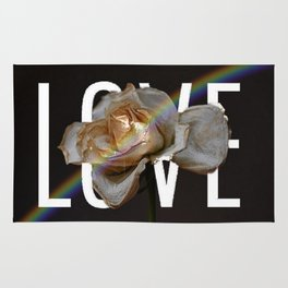 Love And Flowers Bring May Showers Rug