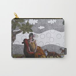 Lady with foxes Carry-All Pouch
